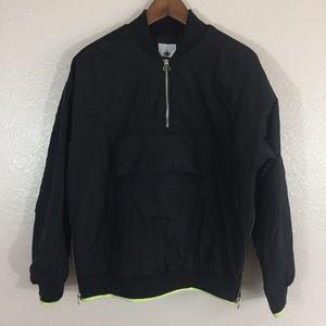 Black adidas EQT jacket.